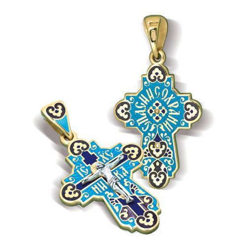 Православный крест с эмалью КЭ 15
