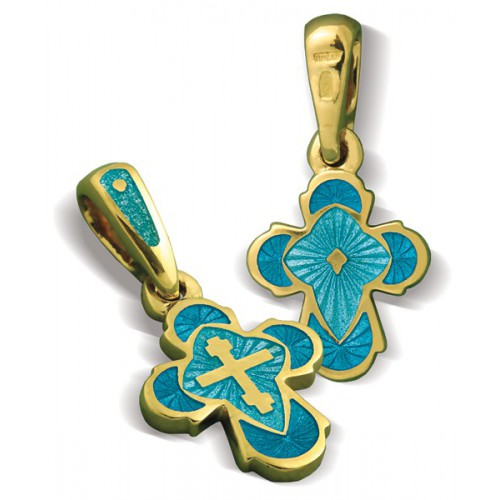 Православный крест с эмалью КЭ.19-2