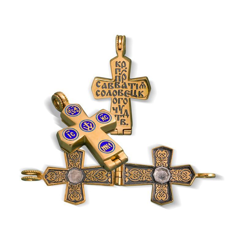 Нательный крест мощевик КМЭ 17