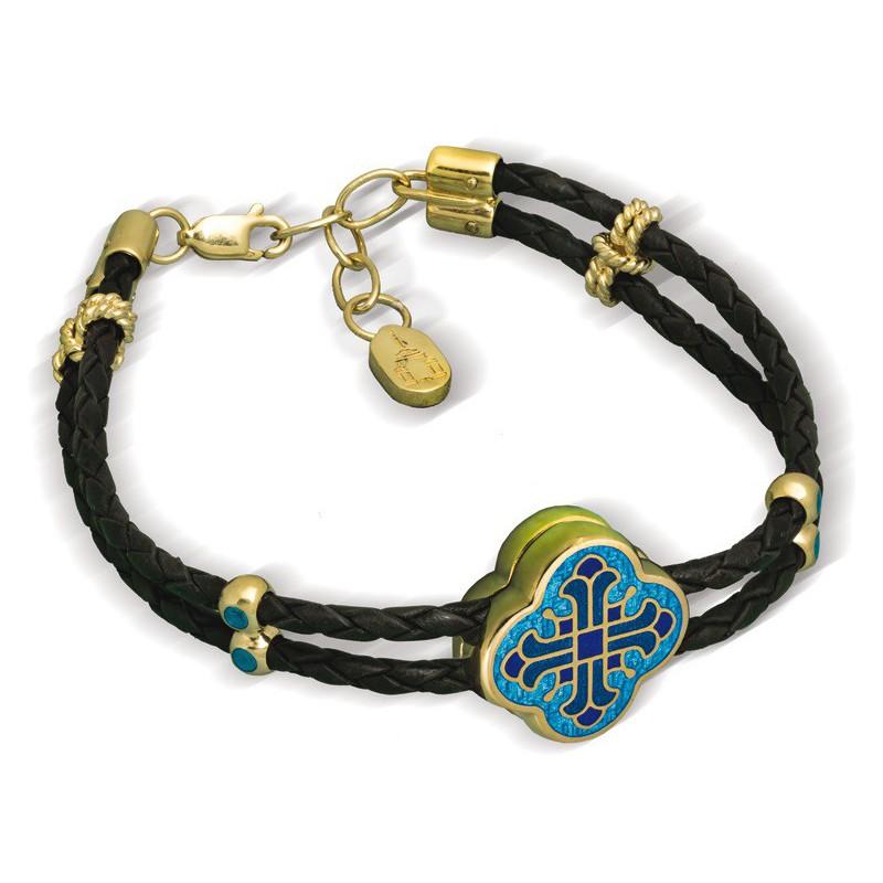 Православный браслет с горячей эмалью «Крест» Б.02