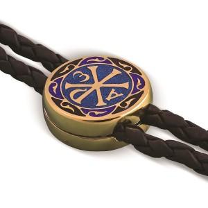Православный браслет с горячей эмалью «Хризма» Б.05