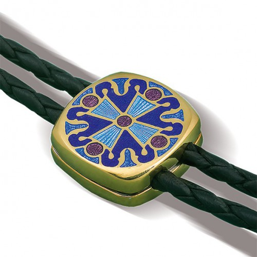 Православный браслет с горячей эмалью «Крест» Б.06