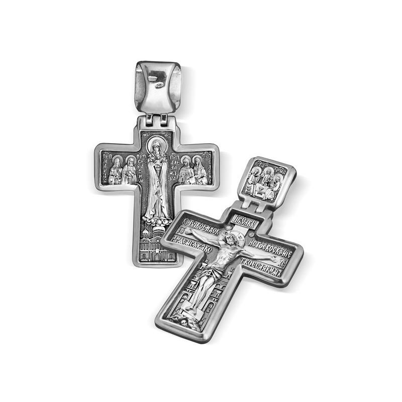Большой серебряный крест (27 гр) «Дивеевский»