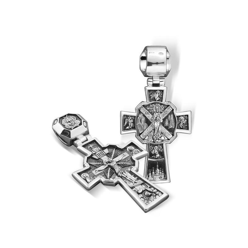 Большой серебряный крест (18 гр) «Андреевский»