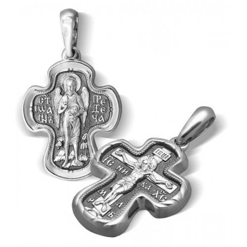 Серебряный крест. Креститель «Иоанн Предтеча»