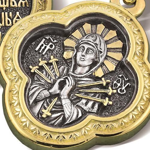 Образок «Икона Божией Матери «Семистрельная» ПД 008