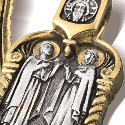 Святые Петр и Феврония. Нательный образок