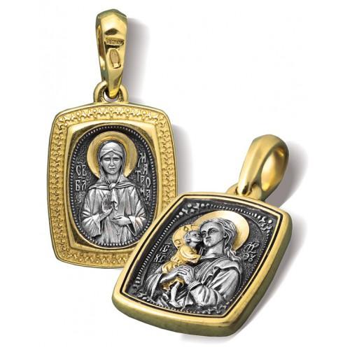 Образ «Икона Божией Матери «Взыскание погибших. Св. Матрона Московская» ПД069
