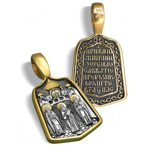 Образ «Соловецкие святые» ПД072