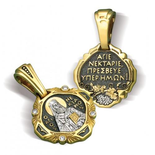 Образ «Святой Нектарий» ПД092 (фианит)