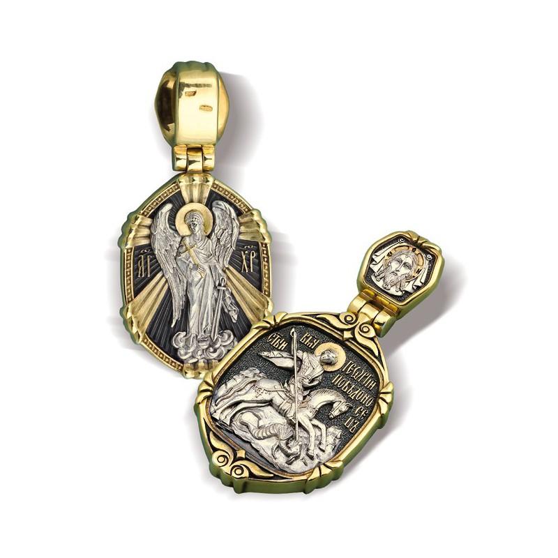 Образ «Святой Георгий Победоносец. Ангел Хранитель» ПД094