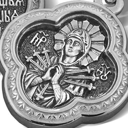 Образок «Икона Божией Матери «Семистрельная» ПД 008с