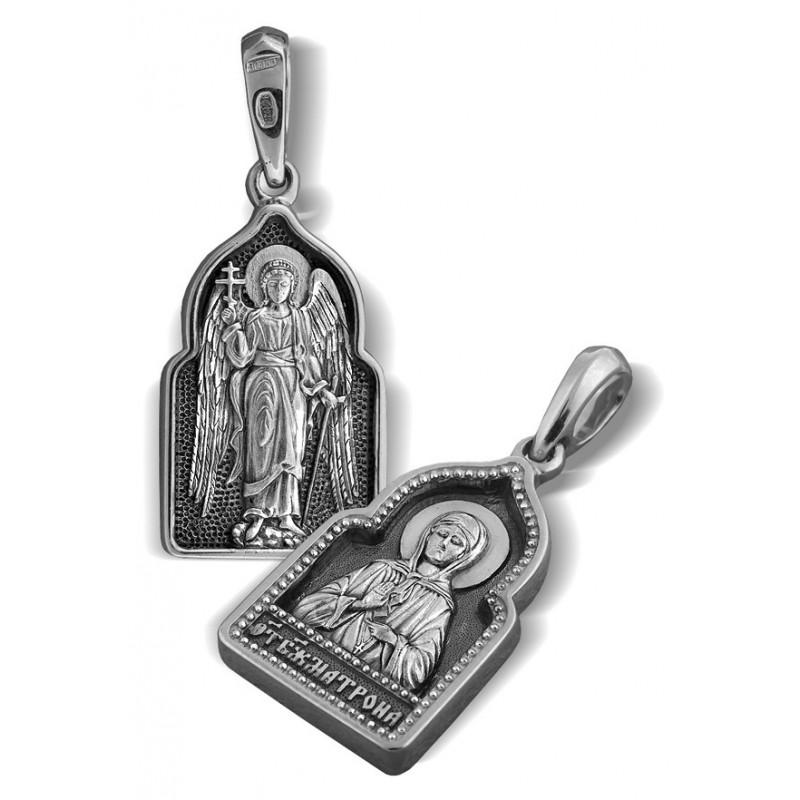 Образ «Св. блаженная Матрона Московская. Ангел-Хранитель» ПД021