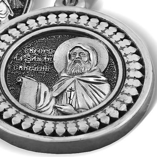Образ «Преподобный Александр Свирский. Святая Троица» ПД066s
