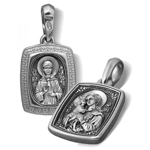 Образ «Икона Божией Матери «Взыскание погибших. Св. Матрона Московская» ПД069s