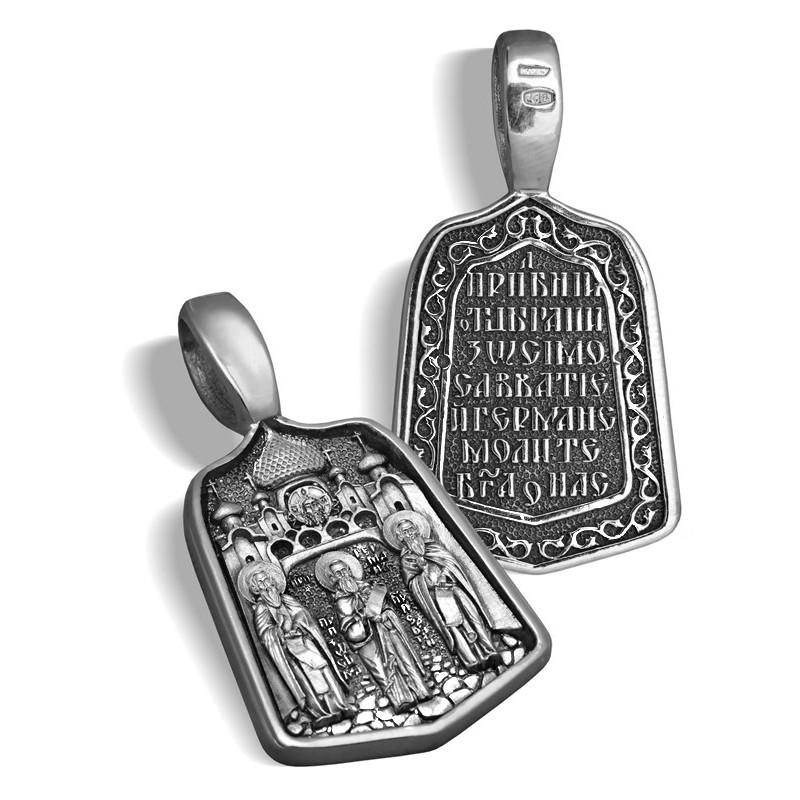 Образ «Соловецкие святые» ПД072s