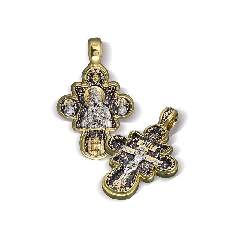 Нательный православный крест «Почаевский»