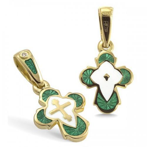 Православный крест с эмалью КЭ.19-1