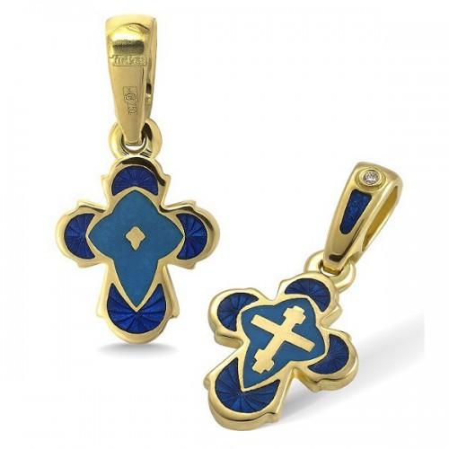 Православный крест с эмалью КЭ.19-3